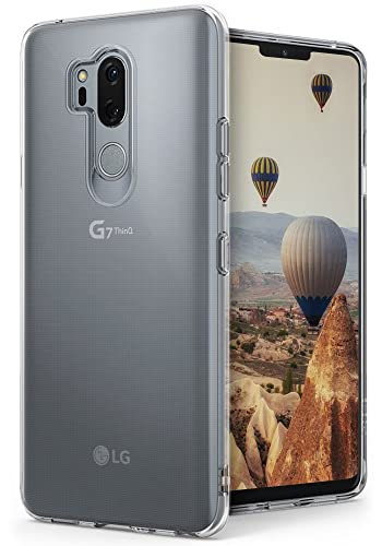 Ringke LG G7/G7 ThinQ Case, [Air] Ultimate Ergonomic Resilient Weightless as Air, Extreme Featherweight Supple TPU Scratch Resistant Sturdy Protective Cover for LG G7/G7 ThinQ (2018) - Clear