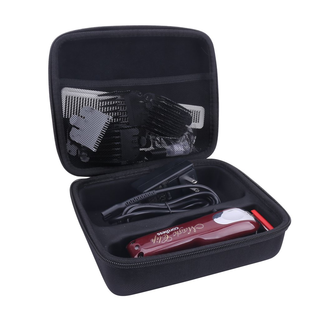 Storage Organizer Hard Case for Wahl Professional 5-Star Cordless Magic Clip #8148/#8504 with Hair Cutter Salon Cape by Aenllosi Anellosi