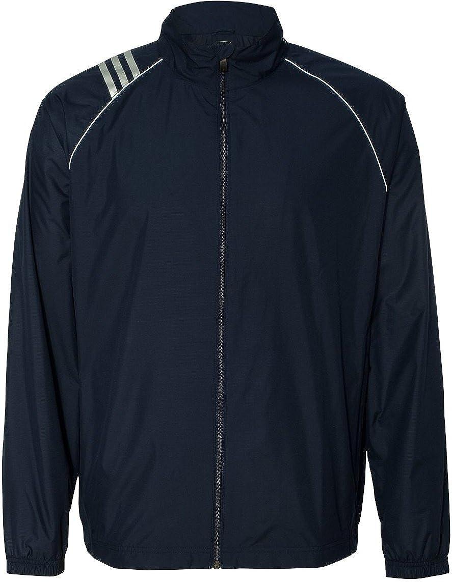 : adidas Golf Men's 3 Stripes Full Zip Jacket>2XL