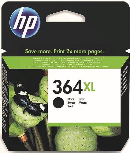 Oferta amazon: HP 364XL CN684EE Negro, Cartucho de Tinta de Alta Capacidad Original, de 550 páginas, para impresoras HP Photosmart serie C5300, C6300, B210, B110 y Deskjet serie 3520