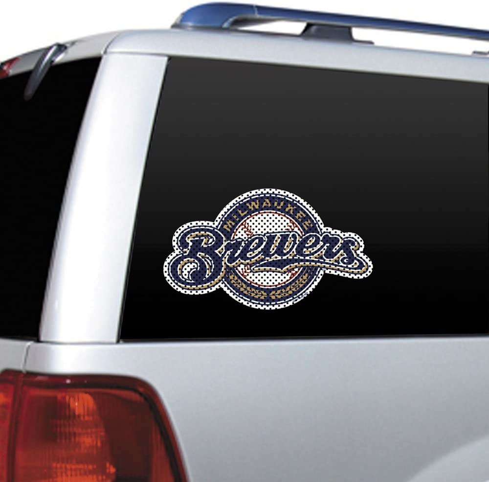 MLB Milwaukee Brewers Die Cut Window Film