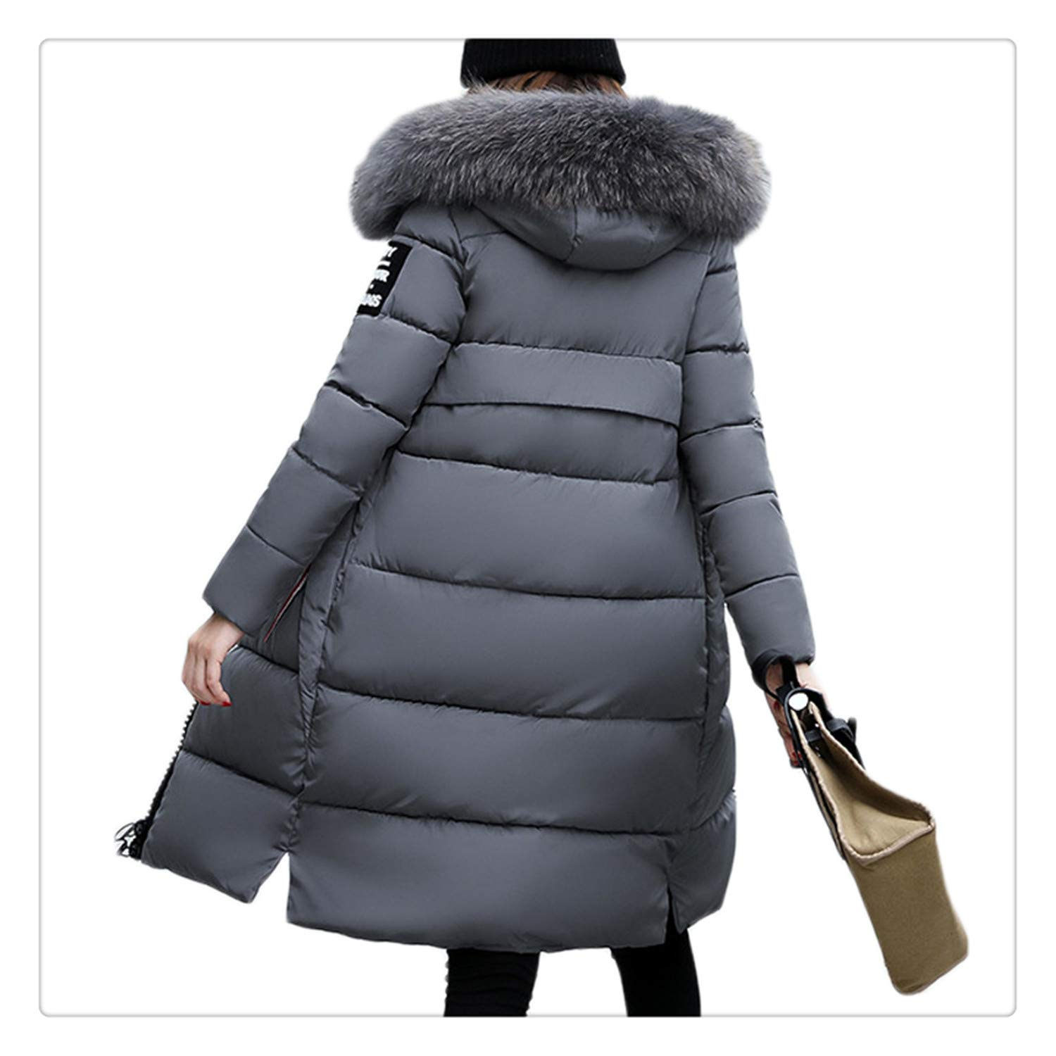 Amazon.com: Anghuluqub Warm Winter Jacket Women Big Fur ...