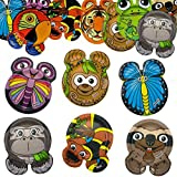 60ct Hefty Zoo Pals Rainforest Collection Animal Plates Disposable Jungle Birthday Party
