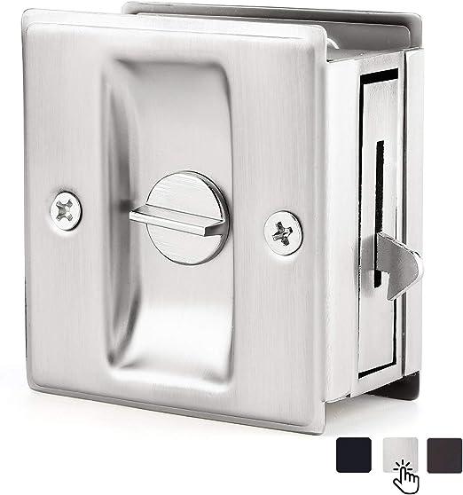 Better Home Products BHP 720-SN Privacy Sliding Door Pocket Lock Satin Nickel