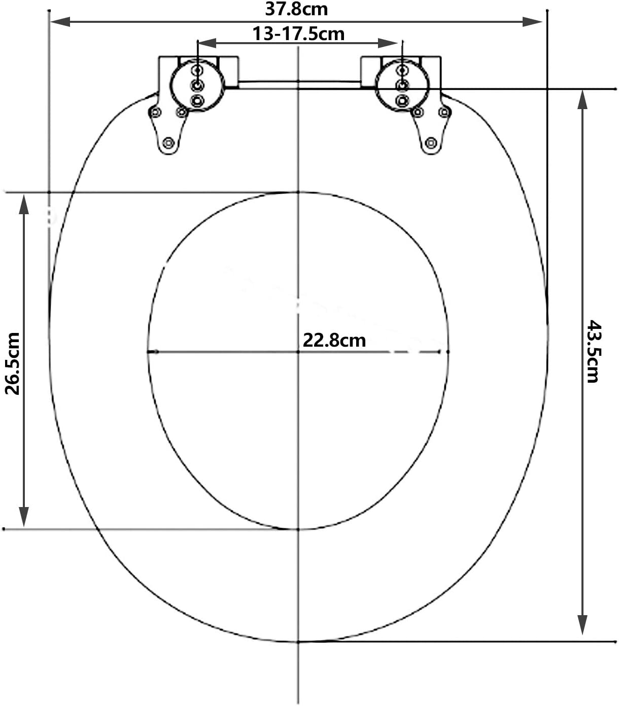 wolketon WC Sitz mit Absenkautomatik Toilettendeckel Klodeckel MDF Holz Toilettensitz Familie Oval Klodeckel Antibakterielle WC Deckel Absenkautomatik Motiv Klobrille