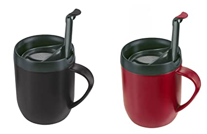 Hot Graphiteamp; Zyliss Cafetiere Mug One Cafe Cup Coffee 2 X Red Smart 2H9EDYeWI
