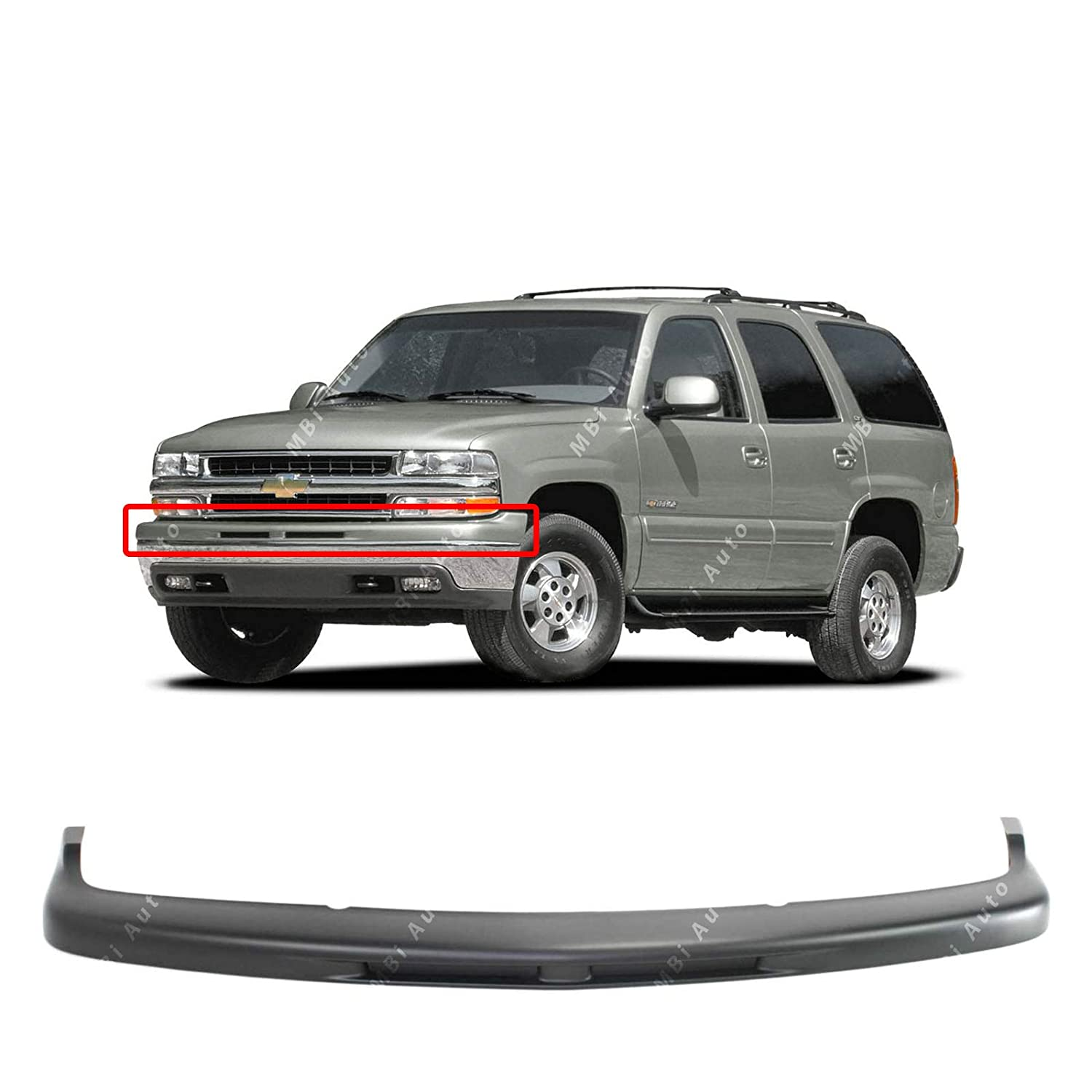 Front Upper Bumper Top Cover Pad for 1999-2002 Chevy Silverado /& 2000-2006 Chevy Tahoe Primered MBI AUTO GM1051107 Suburban 00-06