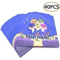 Baby Shark Napkins Birthday Party Supplies Under the Sea/Summer Shark Theme Napkins