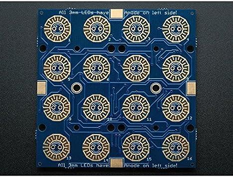 Adafruit Trellis Monocromo PCB Driver para 4x4 teclado y LEDs ...