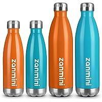 Zanmini Térmo, Botella de Agua aislada al vacío, de Acero Inoxidable con Doble Pared- 24 Horas Caliente y 12 de frío 500 ml/750 ml para para Aire Libre Hiking & Camping