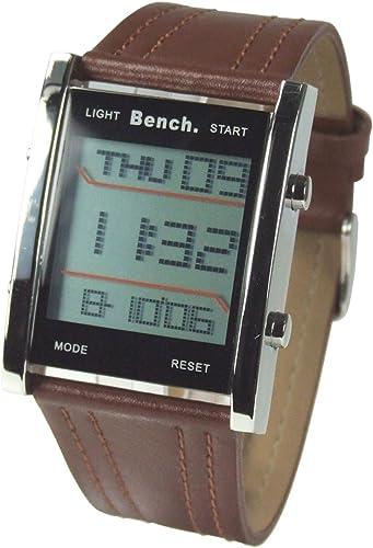 montre homme digital bracelet cuir