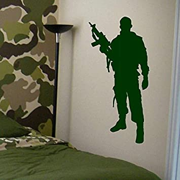 want to decorate your home office find out how bored.htm amazon com 3d wall stickers military army soldier wall decal home  wall stickers military army soldier