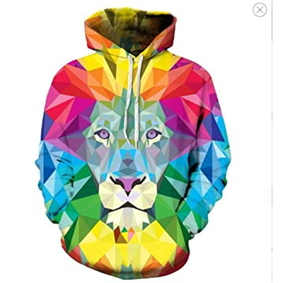 Men/Women Sweatshirt Hooded 3D Clothing Cap Print Jacket@Picture_Color_S: Ropa y accesorios