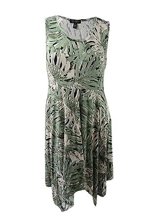 Jessica Simpson Women\'s Plus Size Handkerchief-Hem Dress (1X ...