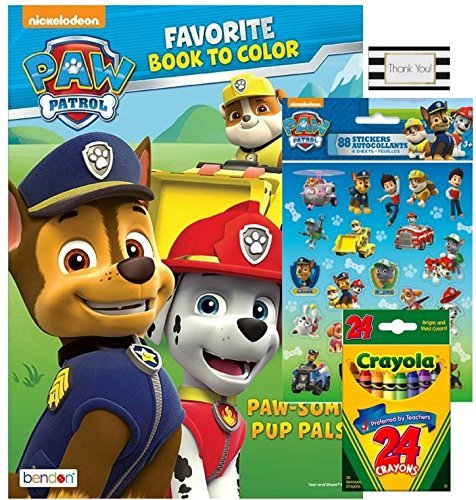 Price comparison product image PAW Patrol Paw-Some Pup Pals Coloring and Activity Book with 4 ct Sticker Sheets and 24 ct Crayola Crayons by BT