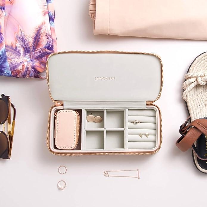 Stackers Piccolo portagioie da viaggio Blush Pink