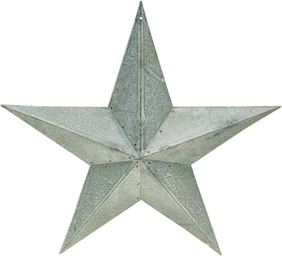 "Rustic Galvanized Metal Barn Star, 12"""