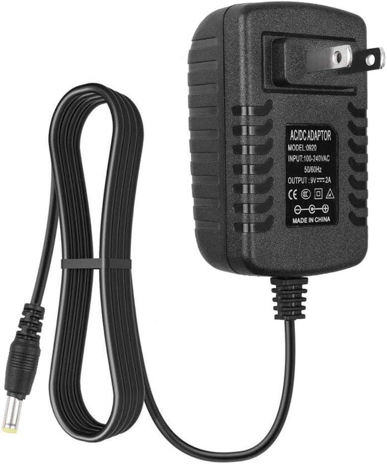 CARGADOR ESP Caricatore Corrente 9V compatibile con sostituzione per Tastiera Schubert Etude 61 MKII BK Cavo Adattatore Alimentazione Caricabatterie Alimentatore Ricambio Replacement