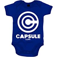 Body Bebé ilustración emblema Capsule Corp - Azul