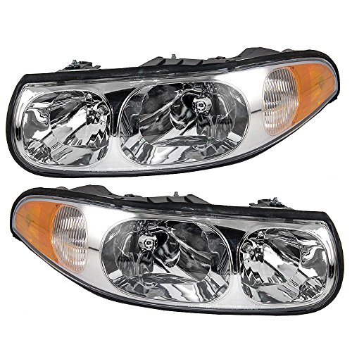 - Driver and Passenger Headlights Headlamps Replacement for Buick 19245377 19245370 AutoAndArt