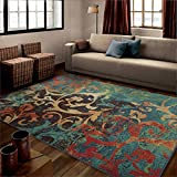 Carolina Weavers Brighton Collection Painting on the Wall Multi Area Rug (5'3 x 7'6) 281855