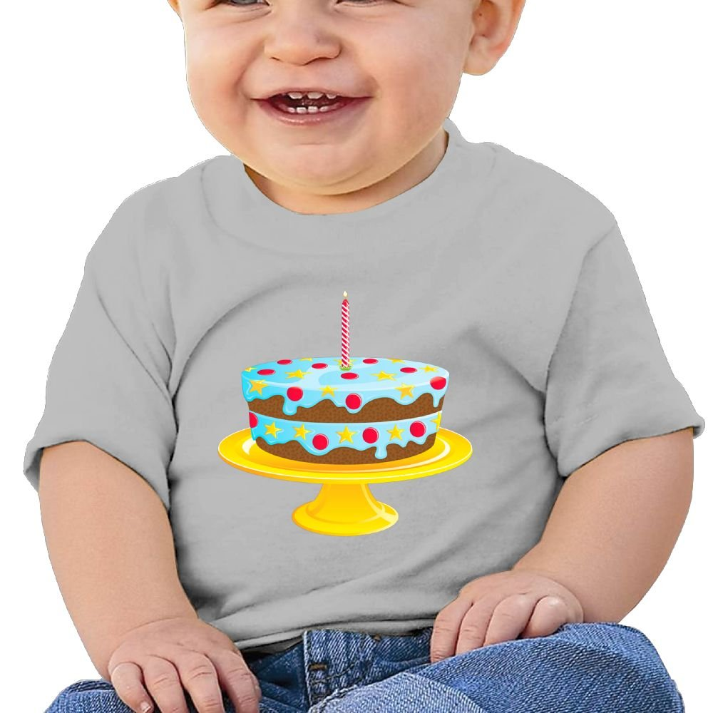 FFWWLHR Blue Birthday Cake Baby Tops T Shirt Unisex Fashion Merry Christmas Cotton Baby Toddler Undershirts Tops