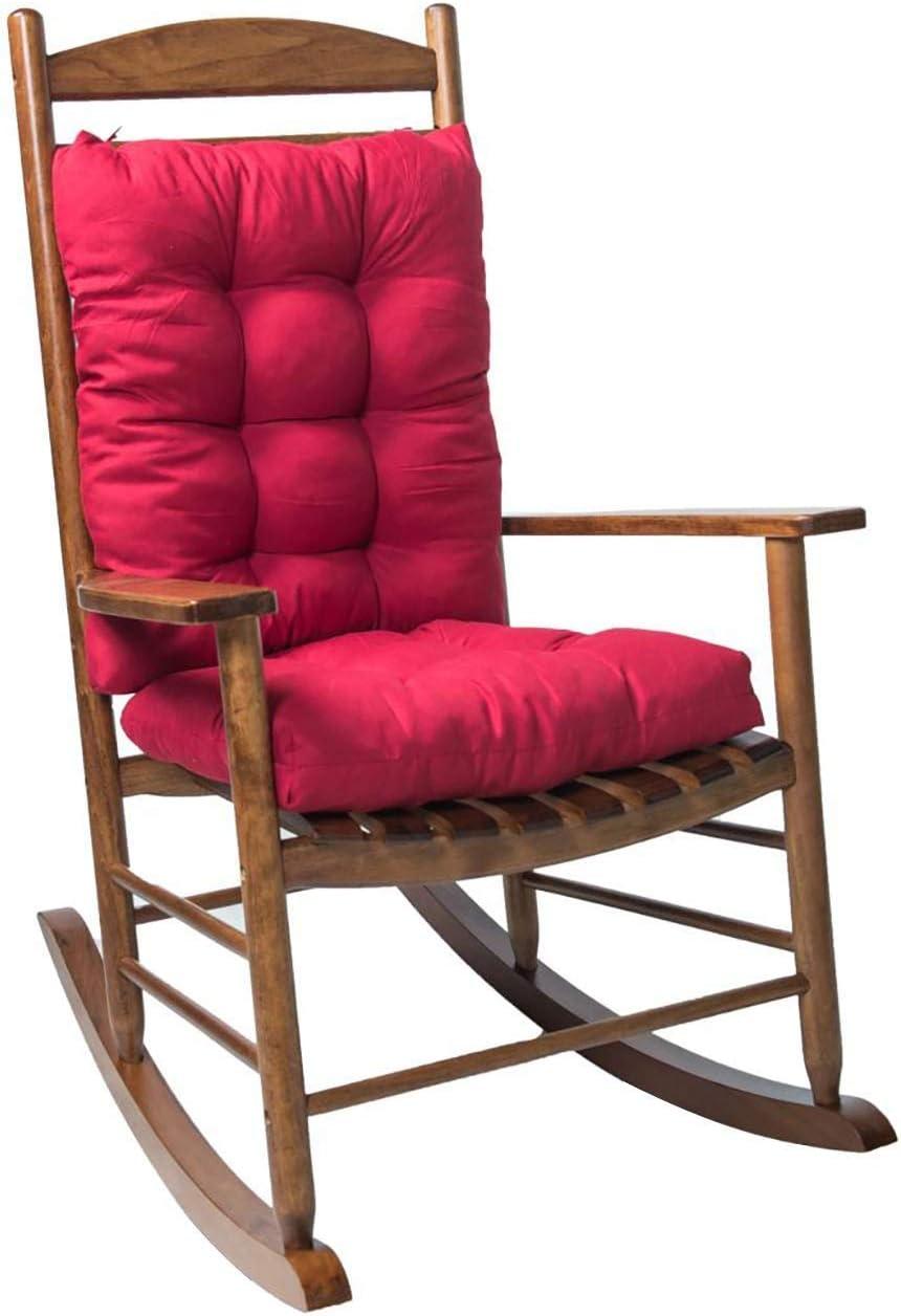 PARTAS Premium Non-Slip Cushion Bench Cushion Swing Cushion for Lounger Garden Furniture Patio Lounger Indoor Bedroom Kitchen Garden (Color : Red, Size : #)