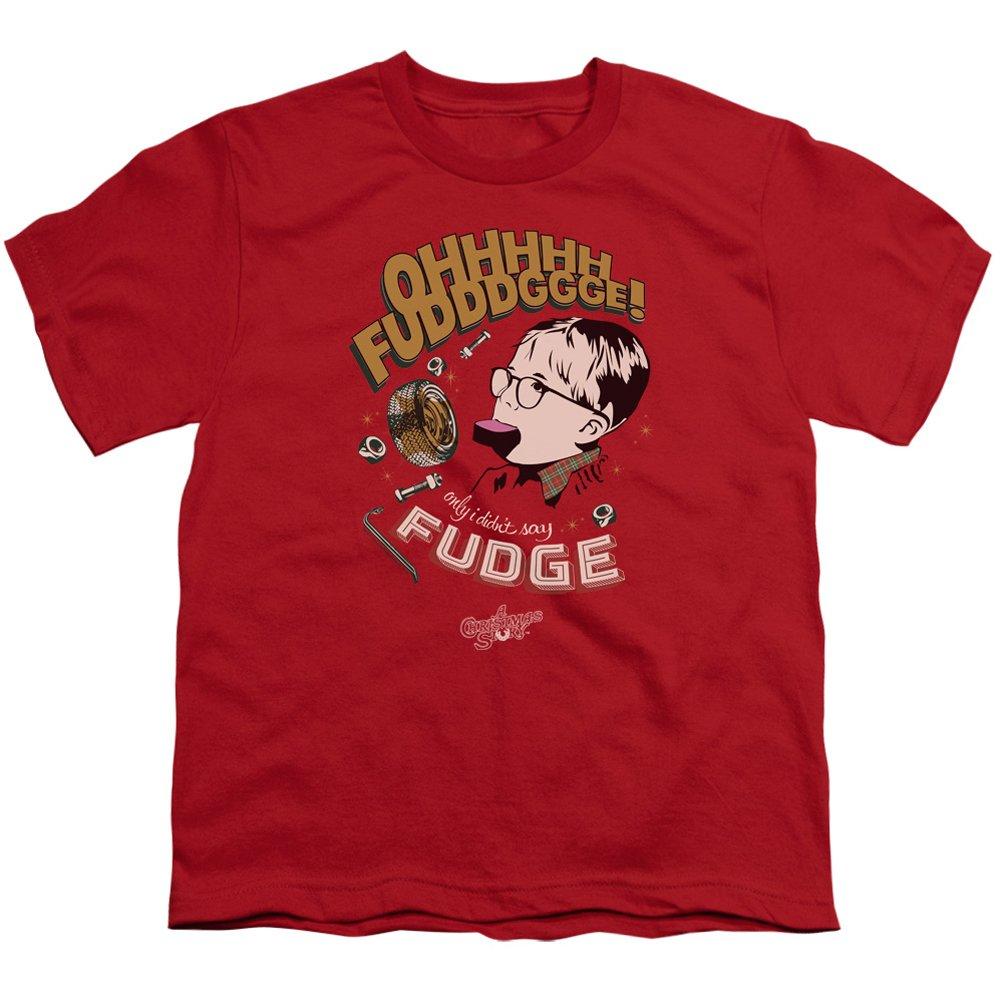 Amazon.com: A&E Designs Kids A Christmas Story T-shirt Oh Fudge ...