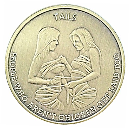 Man Humor Chicks Get Laid Heads & Tails Good Luck Challenge Coin - Gift for Men! by Thompson Emporium