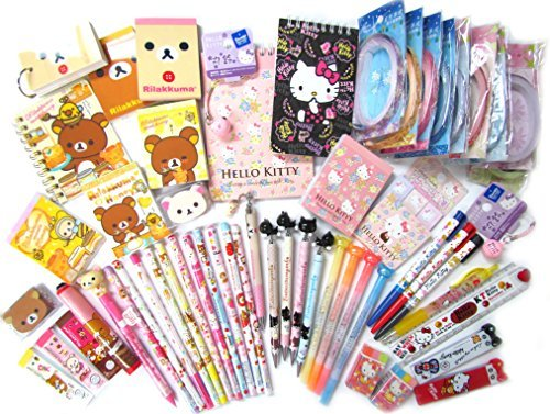 San-X 10 of Assorted School Supply Stationary Set (10 Items Will Be Randomly Selected from The Image Shown) by San-X