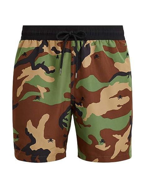 Ralph Lauren - Bañador/Traveler Short para Hombre Militar: Amazon ...