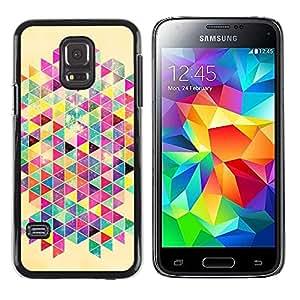 FECELL CITY // Duro Aluminio Pegatina PC Caso decorativo Funda Carcasa de Protección para Samsung Galaxy S5 Mini, SM-G800, NOT S5 REGULAR! // Rat Colorful Poster Pattern