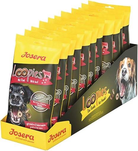 JOSERA Loopies con Vacuno (11 x 150 g)   Masilla para Perros sin Cereales con Poca Grasa   Super Premium Calidad sin azúcar   11 Unidades