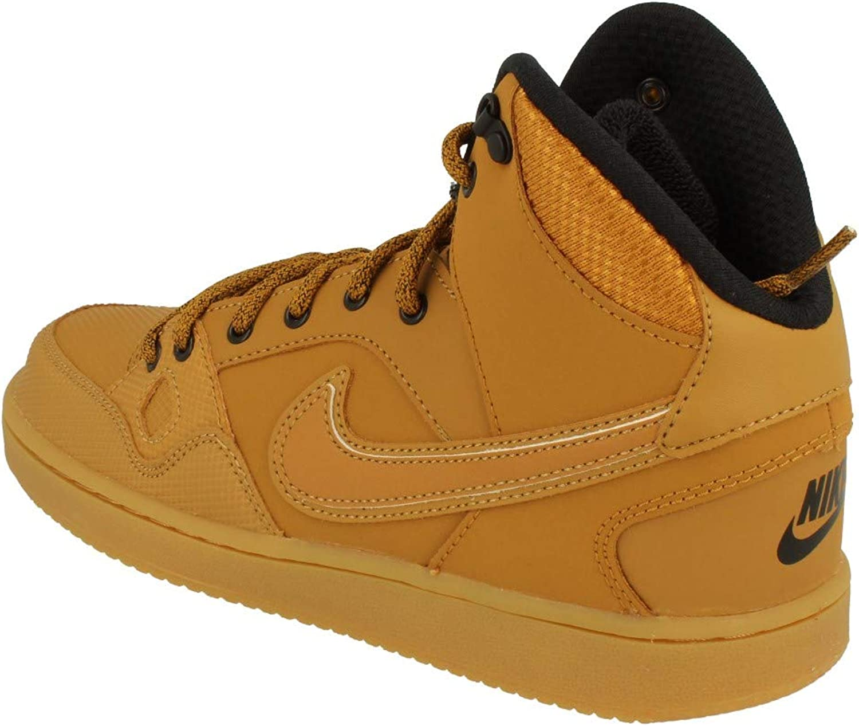 Votación letra Mono  Amazon.com | Nike Son of Force Mid Winter GS Hi Top Trainers 807392  Sneakers Shoes (UK 3.5 us 4Y EU 36, Wheat Black 700) | Sneakers