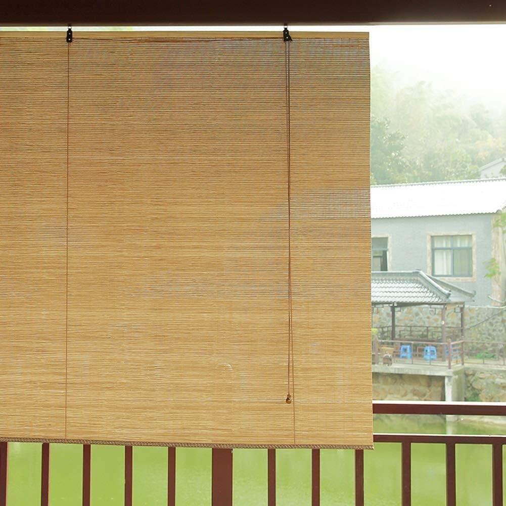 Persianas for persianas enrollables Sombrilla Cortina de aislamiento Bloqueador solar Bambú 85% Sombreado Persianas enrollables de bambú Persianas romanas Opciones de múltiples tamaños: Amazon.es: Hogar