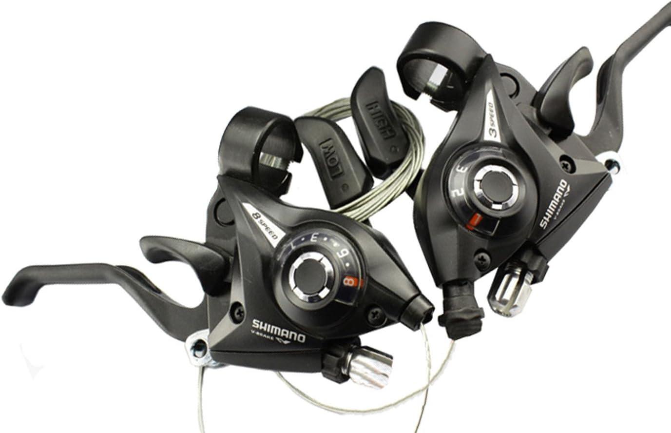 5 x Shimano SL-M310 3 Speed Gear Shifter avec câbles Job Lot