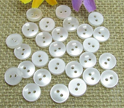 1000 Pcs Buttons White 2 Holes Basic Assorted Sewing Flatback Colored Art Craft For Dress Shirts 10mm
