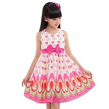 Vestido Cuadrado para niñas, sin Mangas, sin Burbujas, Pavo Real, Vestido de Fiesta: Amazon.es: Deportes y aire libre