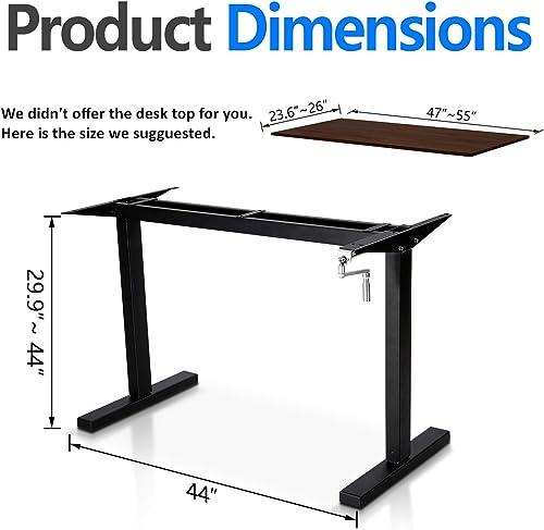 Smile Back Height Adjustable Standing Desk Frame