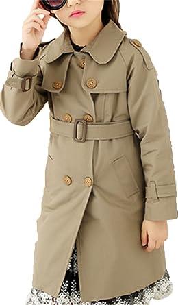 EMIN Mädchen Baby Kids Trenchcoat Frühling Herbst Jacken Mantel Outwear  Doppelreihe Knopf Beiläufig Winterjacke Baumwolljacke ce92ef56f9