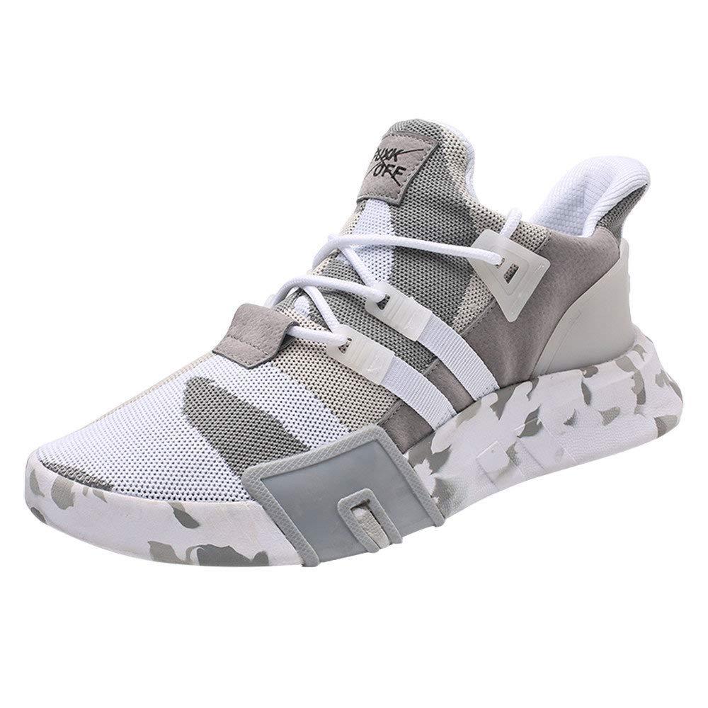 Zapatillas Running para Hombre Aire Libre y Deporte Transpirables Ligeras Zapatos Gimnasio Correr Malla Sneakers Casual Comodas Deportivas Zapatos competitivos Blanco riou: Amazon.es: Zapatos y complementos