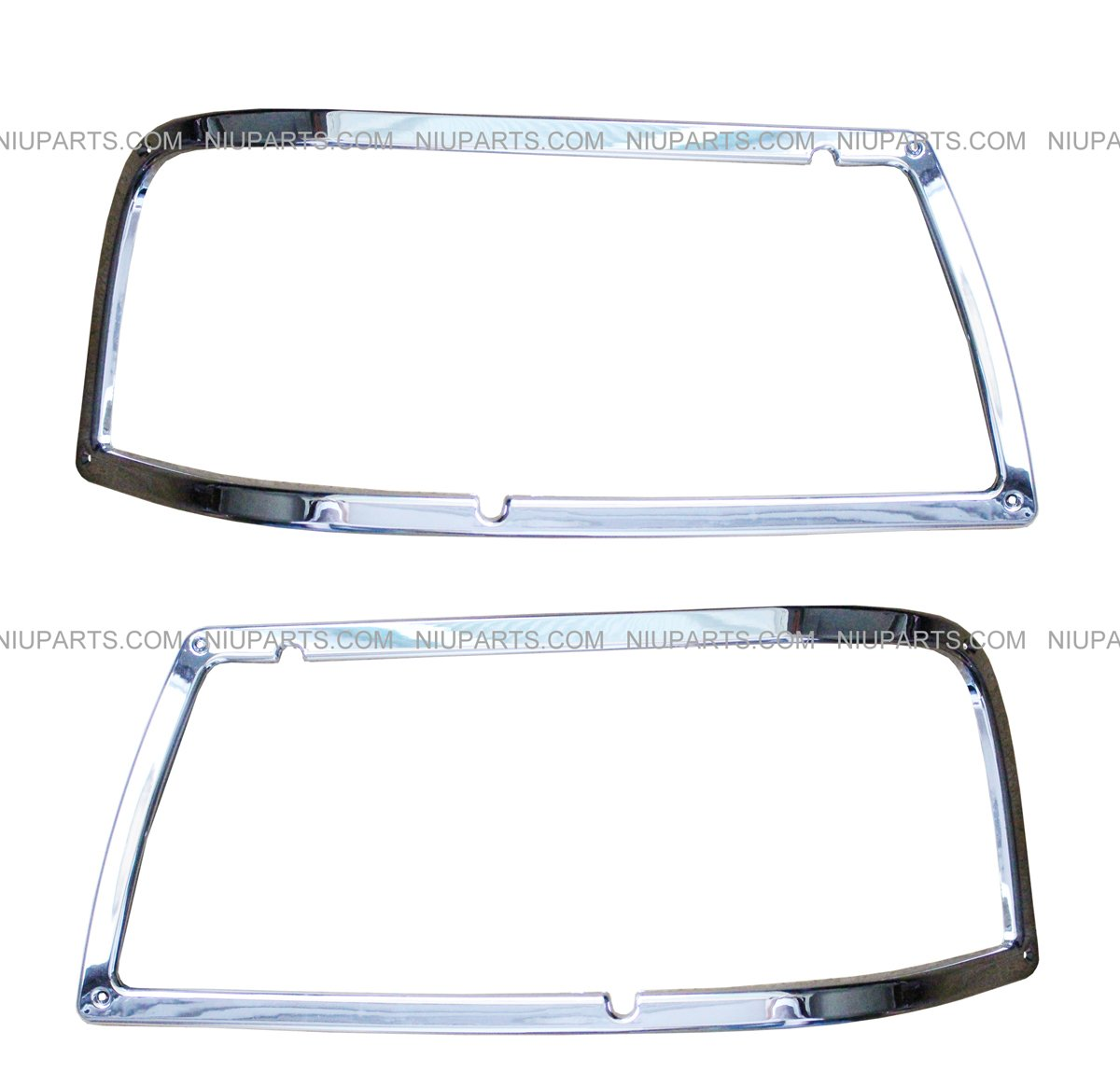 Headlight Bezel Pair - Chrome (Fit: Peterbilt 385 375) by NIUPARTS