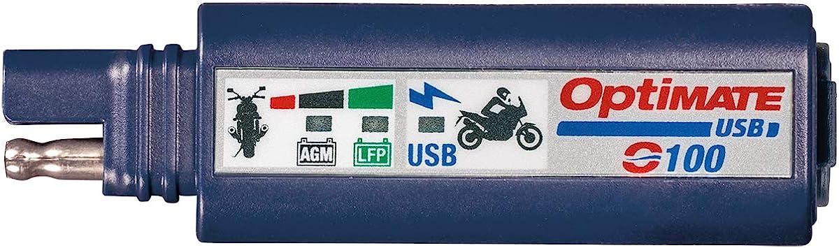 Tecmate Optimate Usb O 100 Kombination 2400ma Usb Ladegerät Und 3 Led Batteriemonitor Mit Fahrzeugbatterieschutz Optimate Auto