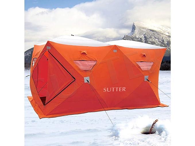 SUTTER Extra großes Quick-Up Zelt 300x150cm (Eiszelt) / für Eisangeln & Eisfischen u.a. / Schnellaufbauzelt Jagdzelt Campingz