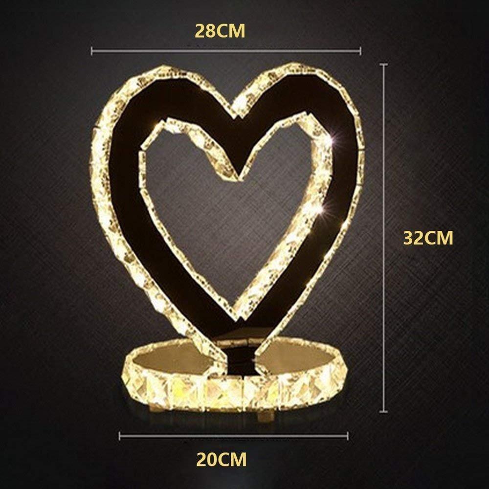 JU Led18W Kristall Herzförmigen Dekorative Tischlampe Schlafzimmer Nachttischlampe Nachttischlampe Nachttischlampe Wohnzimmer Edelstahl Lampe Hochzeit Licht B07HL5JXYD | Ein Gleichgewicht zwischen Zähigkeit und Härte  062bca