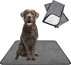 SCENEREAL Washable Pee Pads for Dogs - Waterproof Reusable Pee Pads 2 Packs, Non-Slip Puppy Whelping Mat Fast Absorbent for Potty Training, Pet Pad for Guinea Pigs Dog Food Mat