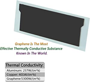 icepc-DIY Graphene Coating Pure Copper Notebook Gaming Laptop Memory Heatsink Cooling Vest Radiator with Thermal Conductive Adhesive(Universal)