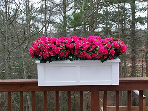 30 inch Hartford Rail Top Planter for a 2X6 Railing by Windowbox