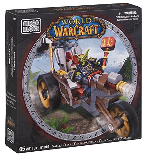 Mega Bloks World of Warcraft Goblin Trike and Pitz (Horde Goblin Warrior)