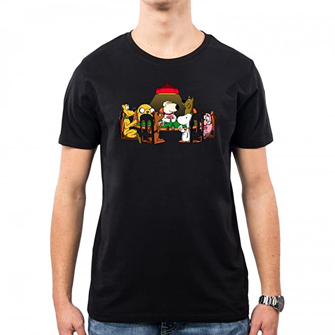 PacDesign Camiseta Hombre Dogs Playing Poker Serie TV Geek Funny TV Series Animal Nemimakeit Nm0030a,